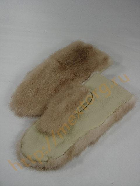 Сшить рукавицы из норковой шапки 7